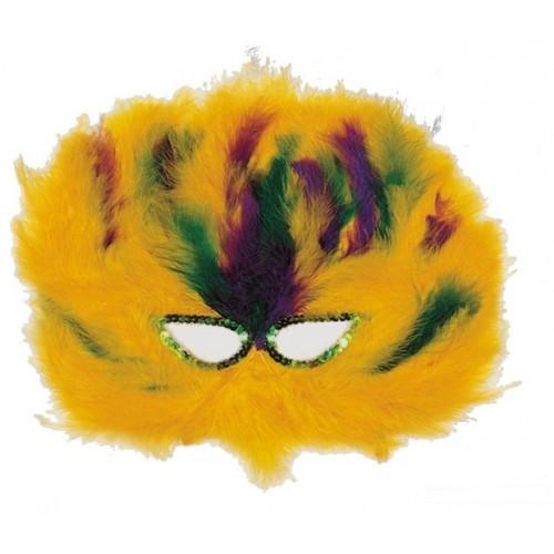 Antifaz Plumas Amarillo