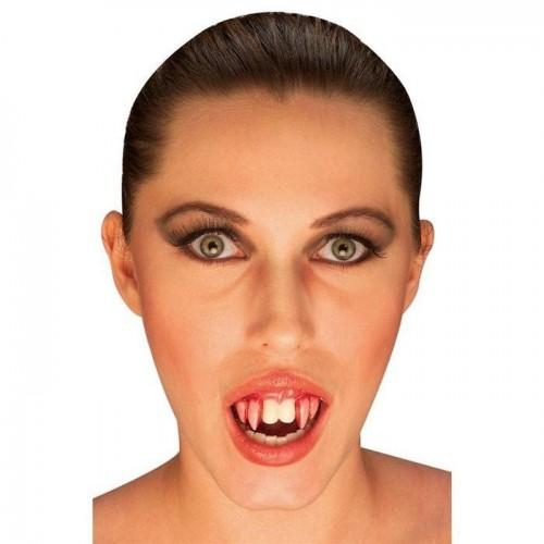 Dentadura Vampiro Colmillo Rojo