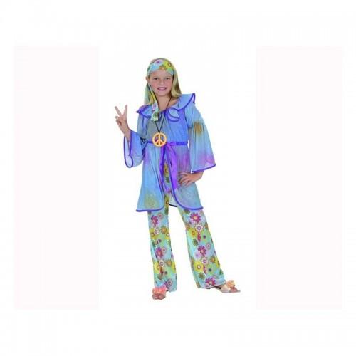 Disfraz Hippie Chica Lila Niña