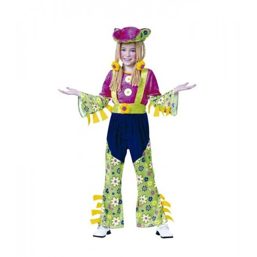 Disfraz Hippie Flores Rastas