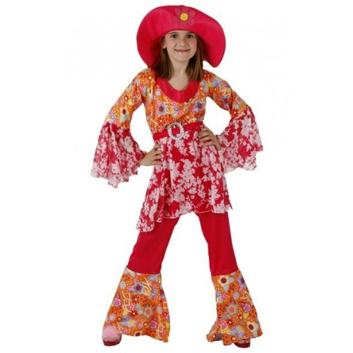 Disfraz Hippie Chica Pamela Niña