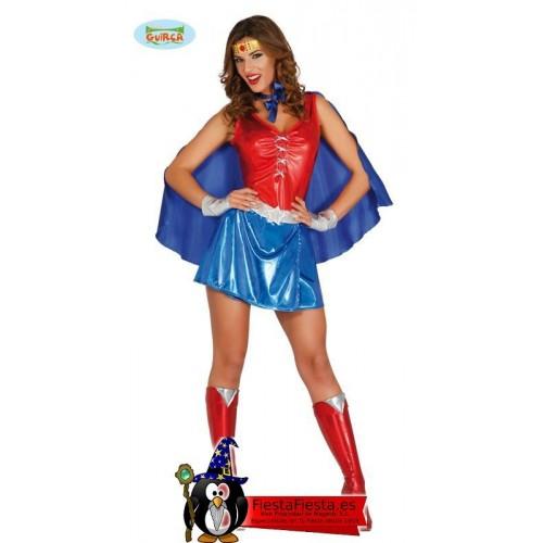 Disfraz Wonder Woman Power Heroina Adulta