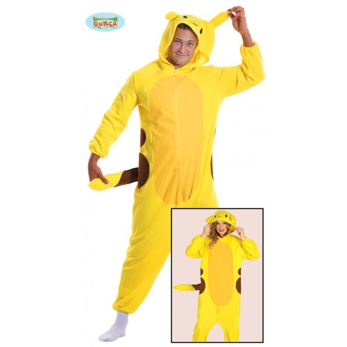 Disfraz Pikachu pijama adulto