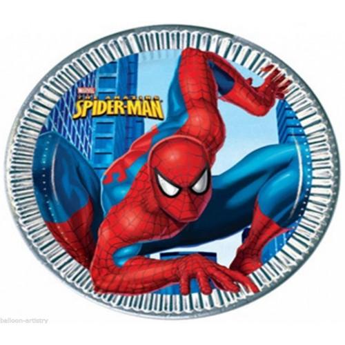 Pack 8 Platos Spiderman