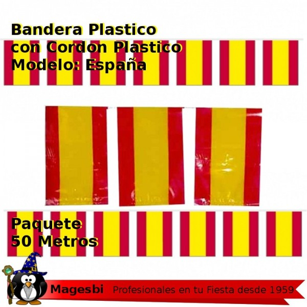 Bandera Plastico España 50m