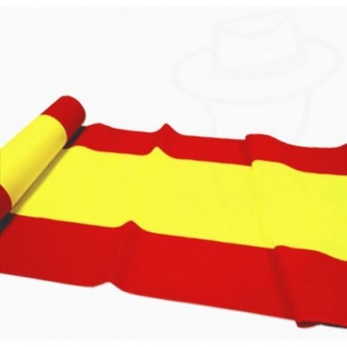 Bandera España en Rollo al corte