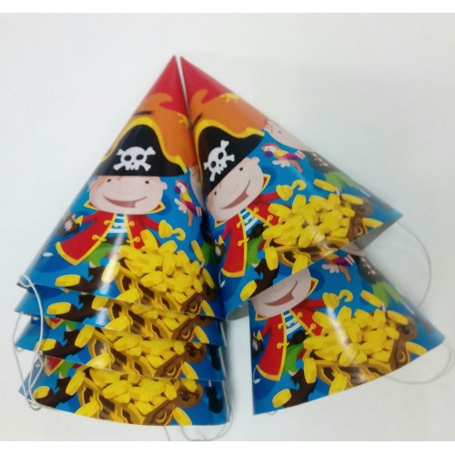 Pack 6 Platos Piratas 18cms