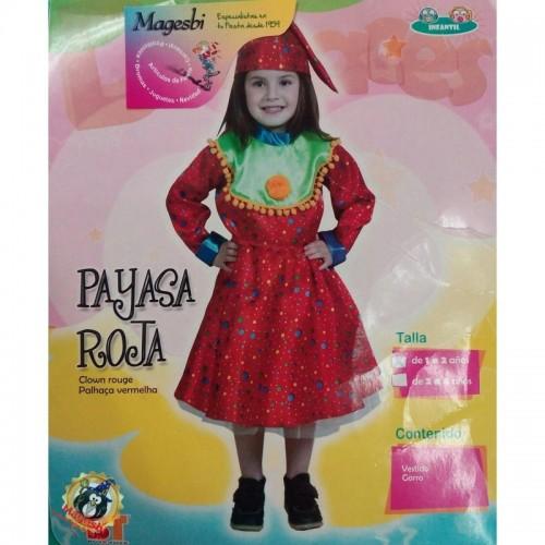 Disfraz Payasa Roja 1 a 2