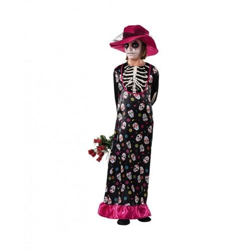 Disfraz Catrina Dama Esqueleto infantil