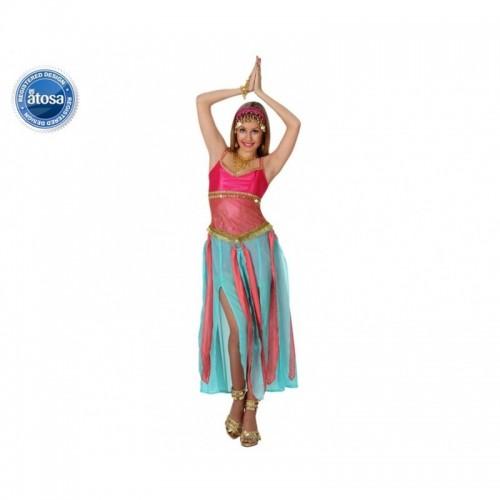 Disfraz Bailarina Arabe Azul Fucsia