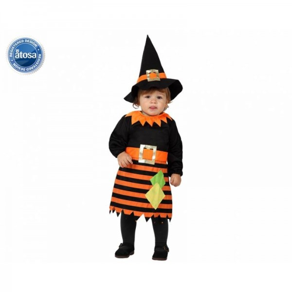 Disfraz Bruja Naranja Bebe