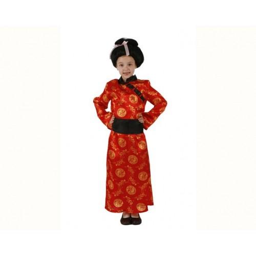 Disfraz Geisha Roja Niña
