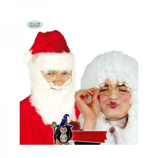 Gafas metálicas Papa Noel