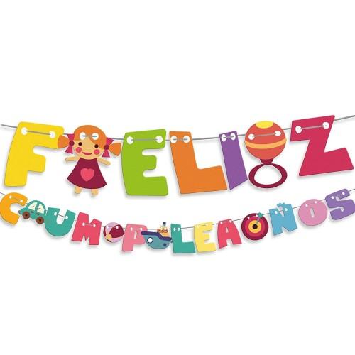 """Letrero """"Feliz Cumpleaños"""" 3m"""