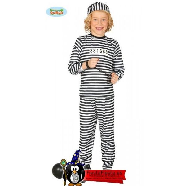 Prisionero Infantil Talla 7-9 Años