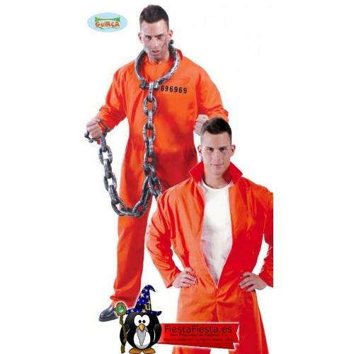 Disfraz Convicto Naranja Preso