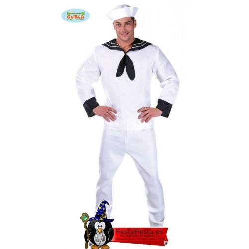Disfraz marinero blanco adulto