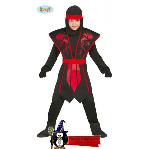 Disfraz Ninja Rojo Negro niño