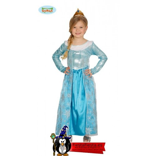 Princesa Escarchada Infantil 7-9 Años