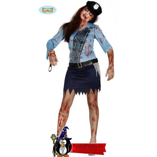 Disfraz policia chica zombi