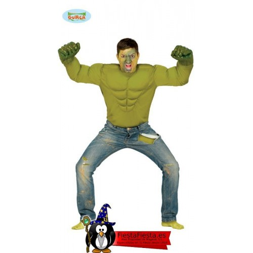 disfraz hulk camiseta musculos