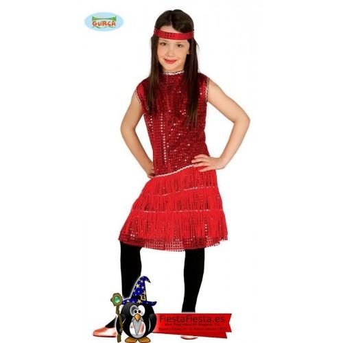 Disfraz charleston niña rojo