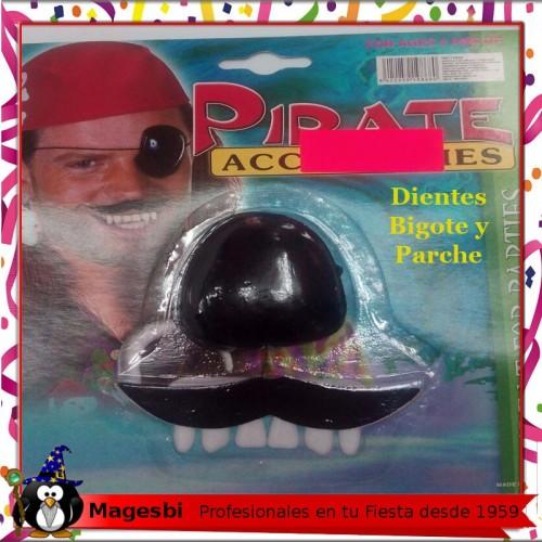 Conjunto Pirata Parche Bigote Dientes