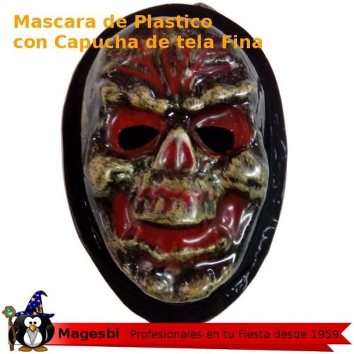 Mascara Calavera Dorada Plastico
