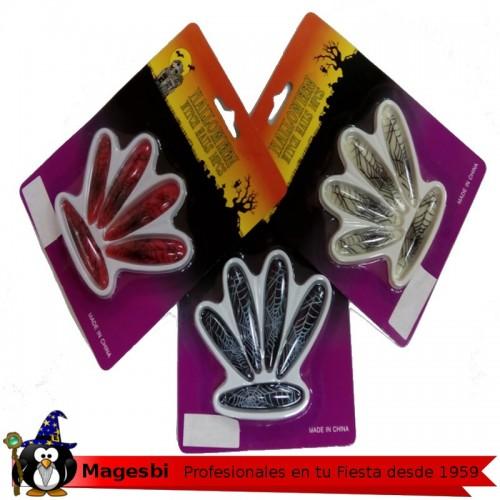 Uñas Estampado Araña Blanca negra o rojo