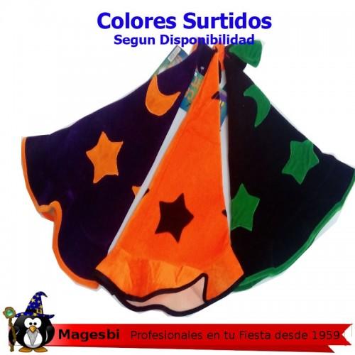 Sombrero Mago Estrellas Negro Morado o Naranja