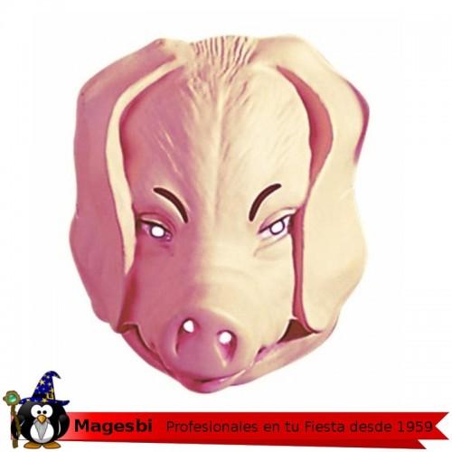 Careta Cerdo Plastico