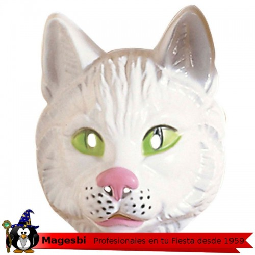 Careta Gato Plastico Infantil