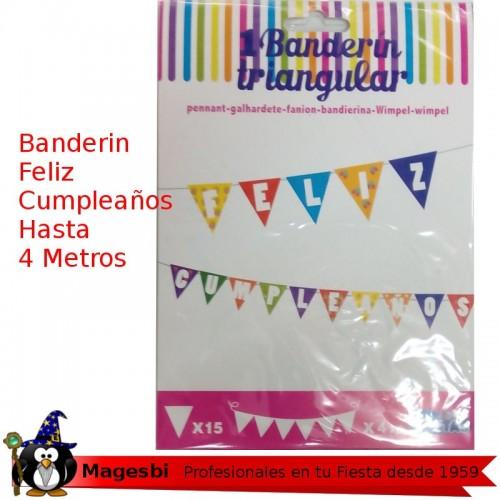 Banderines Feliz Cumpleaños 4m