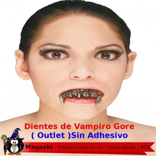 Dentadura Colmillos Negro (Sin Adhesivo)