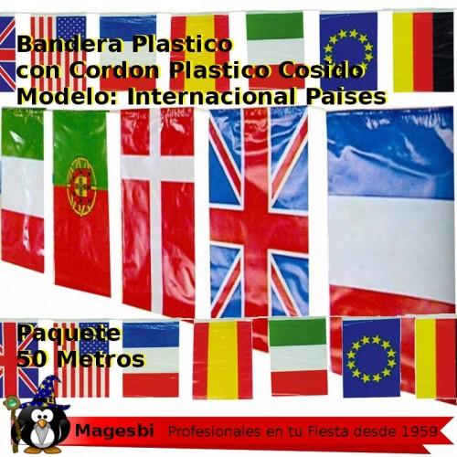 Bandera Plastico Internacional 50m