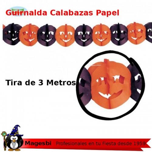 Guirnalda Calabaza Negra Naranja 3 Metros