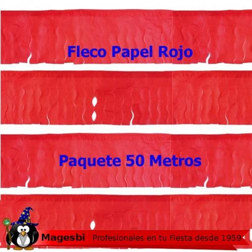 Fleco Papel Rojo 50 Metros