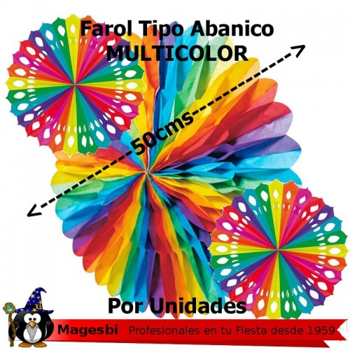 Abanico Papel Multicolor