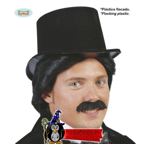 Sombrero Chistera Flocado Negro