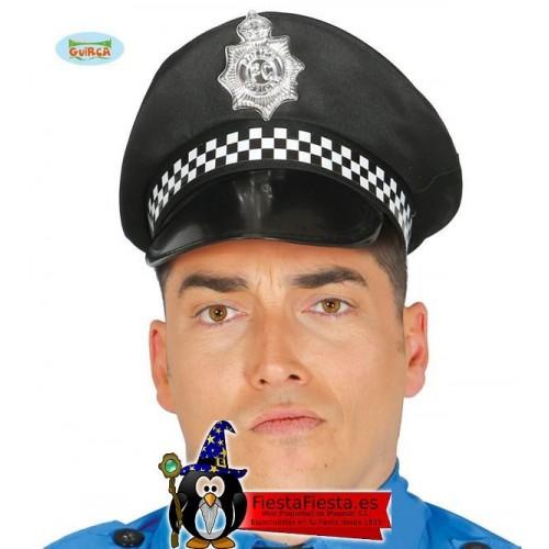 Gorra Policia negra