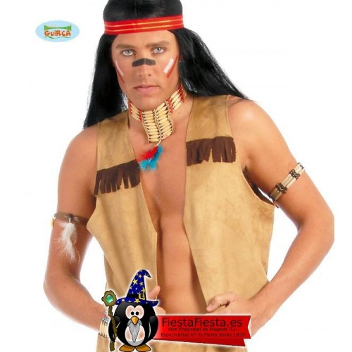 Chaleco Indio Vaquero marron