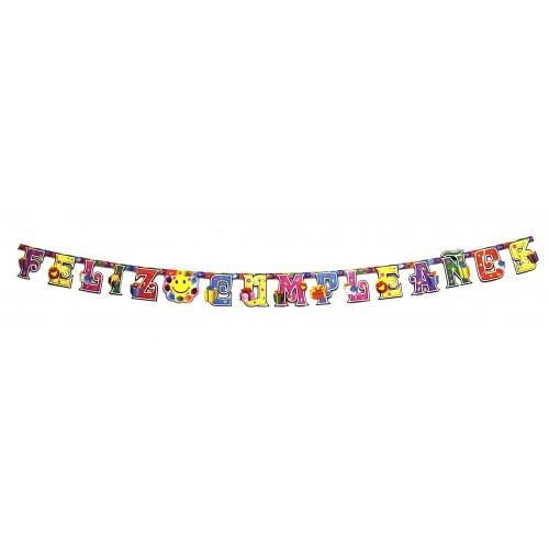 "Letrero ""Feliz Cumpleaños"" 220 X 16 Cms"