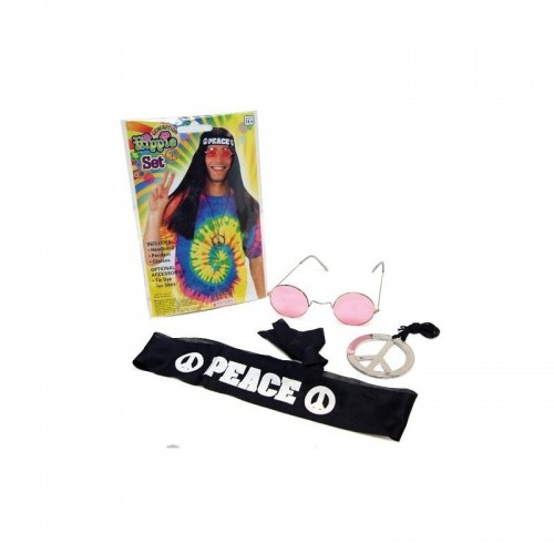 Conjunto hippie gafa pañuelo collar