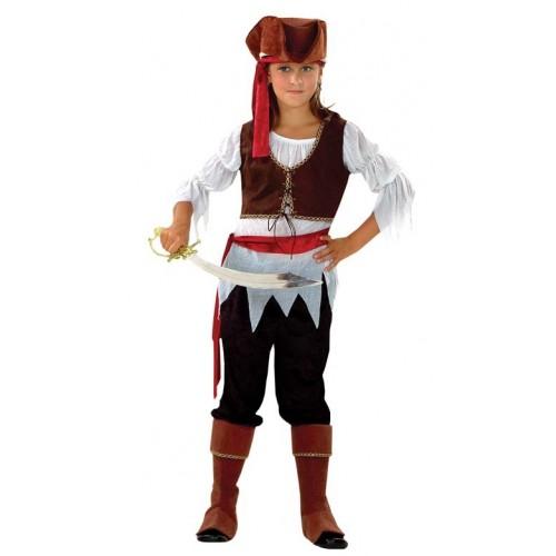 Pirata Chica Marron