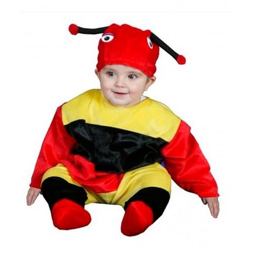 Disfraz Gusano Rojo Amarillo 6-12 meses
