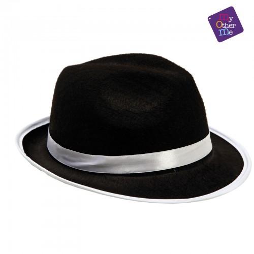 Sombrero Gangster Negro Ala Corta