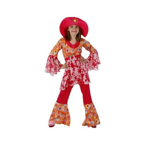 Disfraz Hippie Chica Flores