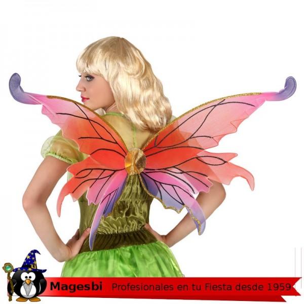 Alas Mariposa Roja 60cm
