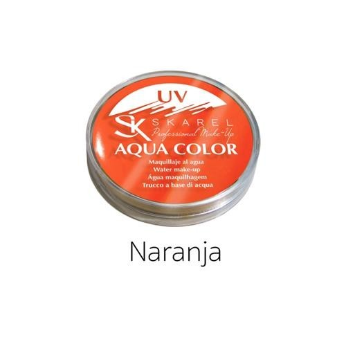 Maquillaje Aqua Color Fluor Naranja