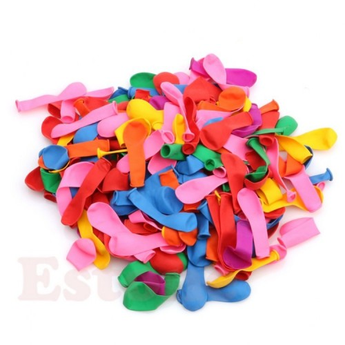 Bolsa 100 Globos 9 A Colores Surtidos